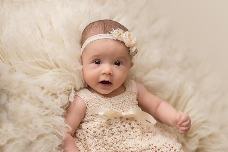 studio baby 3 month milestone photos yvonne leon photography
