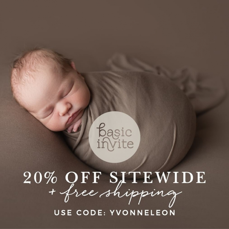 Discount Coupon on Basic Invite for Yvonne Leon Photography clients