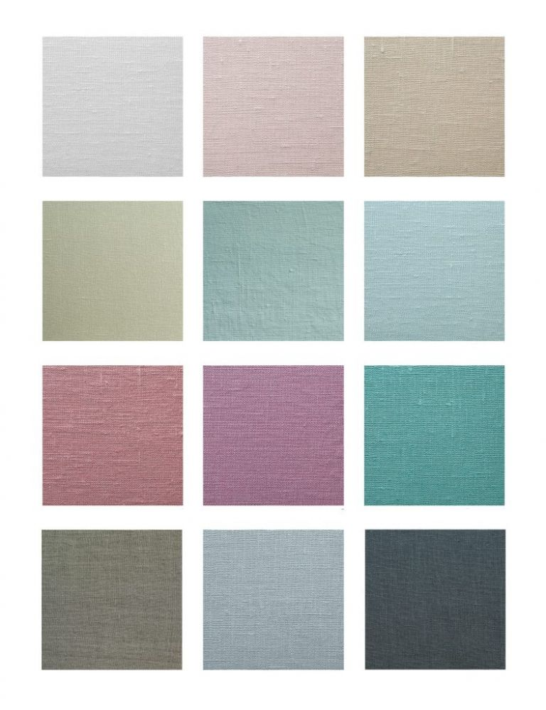 Album cover swatches, linen fabric color choices
